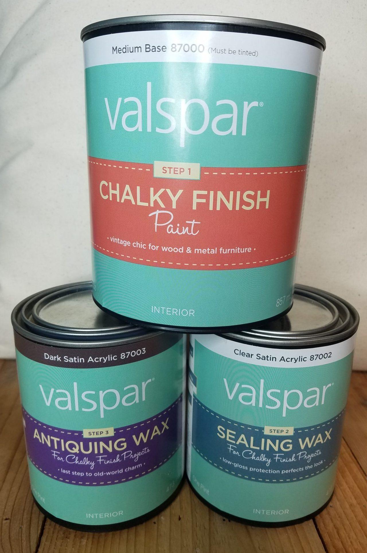 valspar chalky finish paint review the dixie lady. Black Bedroom Furniture Sets. Home Design Ideas